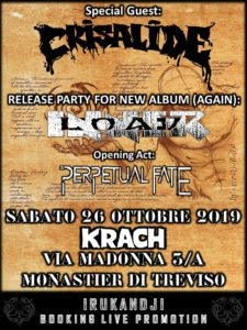 AGAIN Release Party: INNERLOAD + Special guests Crisalide & Perpetual Fate